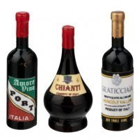 (**) Dollhouse Italian Wine Set - Product Image