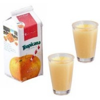 Dollhouse Orange Juice Set - Carton - Product Image