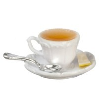 Dollhouse Filled Cup of Hot Tea - Product Image