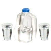 (*) Gallon Water Bottle with 2 Glasses - Product Image