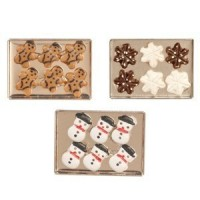 ( **) Dollhouse Christmas Cookies on Baking Sheet - Product Image