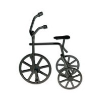 (**) Black Dollhouse Tricycle - Product Image