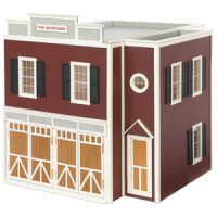 (**) QuickBuildTM Firehouse Dollhouse Kit - Product Image