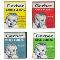 (**) Dollhouse Vintage Baby Cereal Box - Product Image