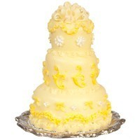 Yellow Dollhouse Wedding Cake - Product Image