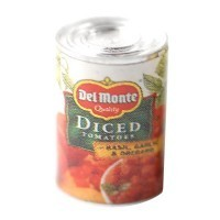 (**) Dollhouse Can of Diced Tomatoes - Product Image