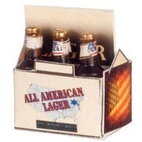 Dollhouse 6 pack Lager Beer Bottles - Product Image
