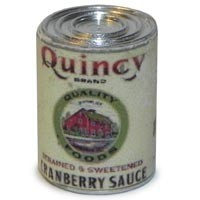 Dollhouse 1 lb. Can of Quincy Cranberry Sauce - Product Image