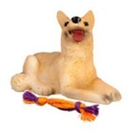 (**) Dollhouse Dog with Toy - Product Image