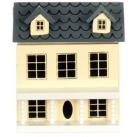 Miniature Dollhouse Dollhouse (Cream) - Product Image