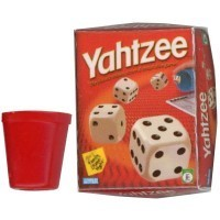 (**) Dollhouse Yahtzee Game Box with Cup - Product Image