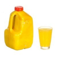 (*) Dollhouse Gallon of Orange Juice Set - Product Image