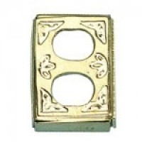Dollhouse Brass Outlet Cover - Product Image