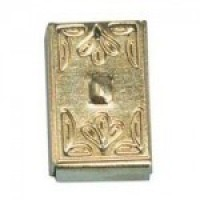 Dollhouse Decorative Brass Switch Plate Cover - Product Image