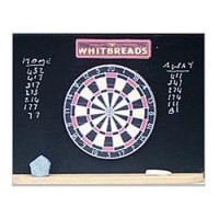 Dollhouse Pub Dartboard on Blackboard - Product Image