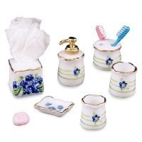 (***) Dollhouse Forget-me-not Bath Accessories - Product Image