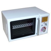 (**) Dollhouse Retro Microwave Oven - Product Image