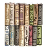 16 pc Dollhouse Victorian Era Books - Product Image