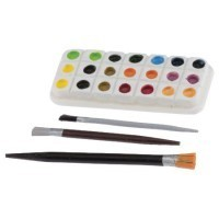 (*) Dollhouse Water Paint Palette & Brushes - Product Image