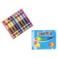 Dollhouse Pencil and Crayon Set - Product Image