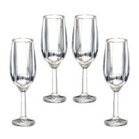 (*) 4 pc. Dollhouse Champagne Glass Set - Product Image