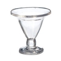(§) Disc .40¢ Off - 2 pc. Dollhouse Ice Cream Glass - Product Image