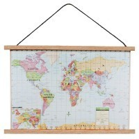 (**) Dollhouse Modern World Map - Product Image