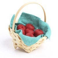 Dollhouse Basket of Red Apples - Product Image