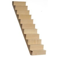 (***) Dollhouse Staircase with Treads - Product Image