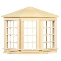 Dollhouse 6 over 6 Bay Window(Non Opening) - Product Image