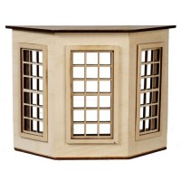 Dollhouse Flat Top (9 over 9)Bay Window - Product Image