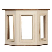 Dollhouse Flat Top (1 Pane)Bay Window - Product Image