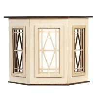 Dollhouse Flat Top Baywith Diamond Windows - Product Image