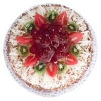 Dollhouse Decorated Fruit Cake - Product Image