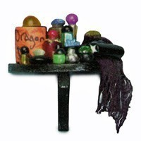Dollhouse Halloween Half Shelf - Product Image