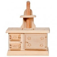 Dollhouse Unfinished Vintage Style Stove - Product Image