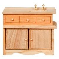 Dollhouse Unfinished Kitchen Sink - Product Image