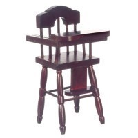 Dollhouse Mahogany Highchair - Product Image
