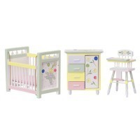 Dollhouse Painted Nursery - Product Image