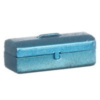 (**) Dollhouse Metal Toolbox - Product Image