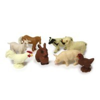 (**) Dollhouse Set of Farm Animals - Product Image