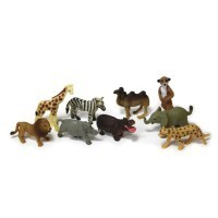 (**) Dollhouse Set of African Animals - Product Image