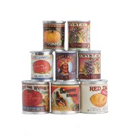 Dollhouse Assorted Vintage Can Food - Product Image