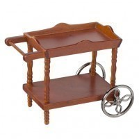 (*) Dollhouse Wooden Serving Cart - Product Image