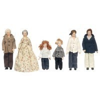 Porcelain Modern Doll Family - Product Image