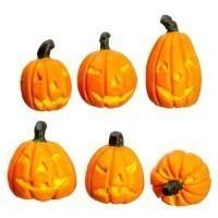 (*) Dollhouse 6 Halloween Pumpkins - Product Image