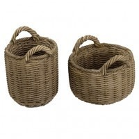 2 Dollhouse Round Baskets - Product Image