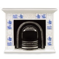 Dollhouse Undecorated or Decorated Fireplace(s) - Product Image