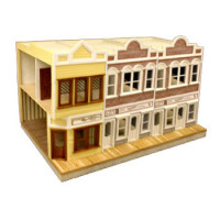 Dollhouse 2 Shop / 2 Story Store (Kit)- Choice of Style - - Product Image
