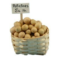 (*) Dollhouse Basket of Potatoes - Product Image
